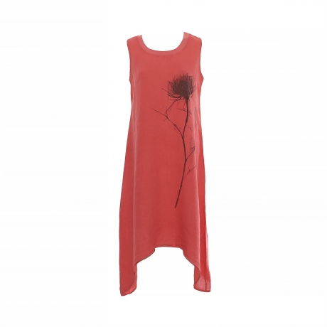 24.Marisol linane kleit Flower punane11100294M eest.jpg