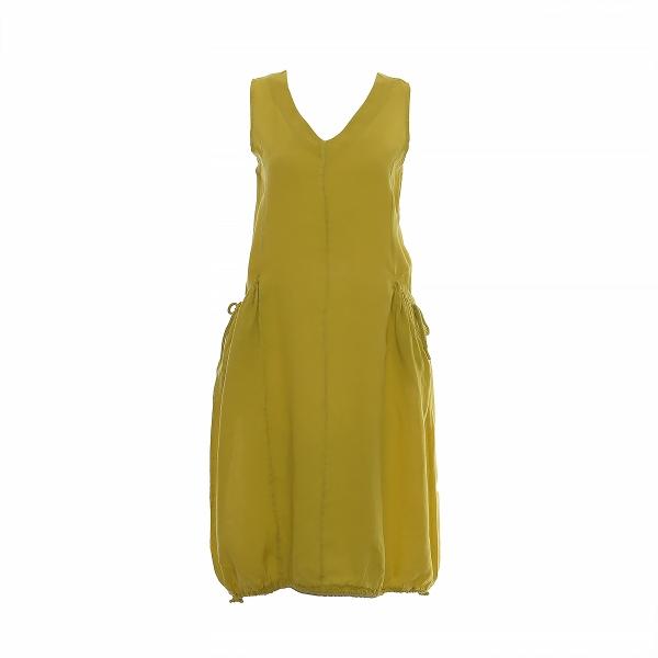 Marisol linane kleit taskul nöör kollane