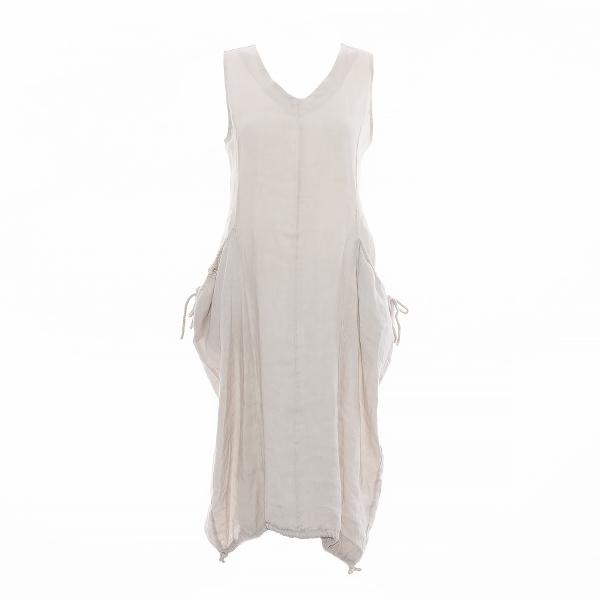 Marisol linane kleit nööridega beež