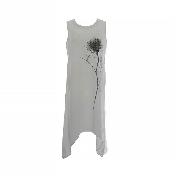 "Marisol linane kleit ""Flower"" valge"