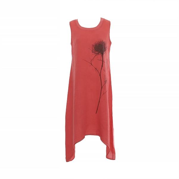 """Marisol linane kleit """"Flower"""" punane"""