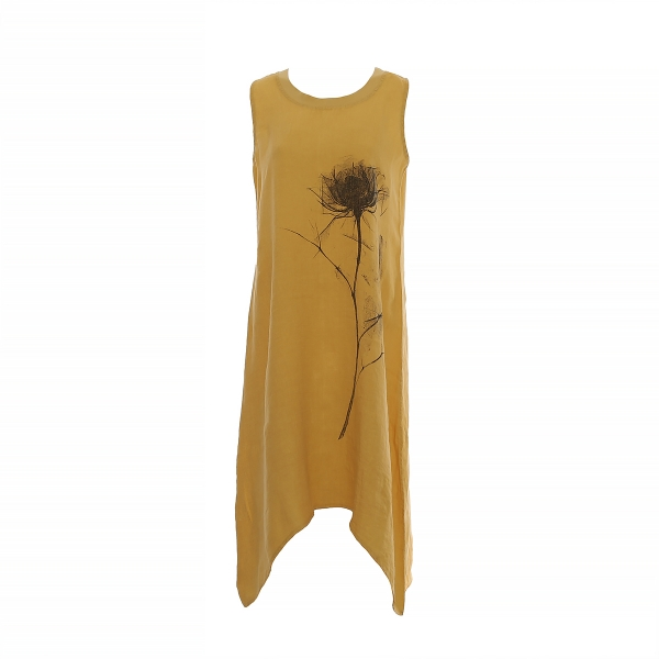 "Marisol linane kleit ""Flower"" kollane"