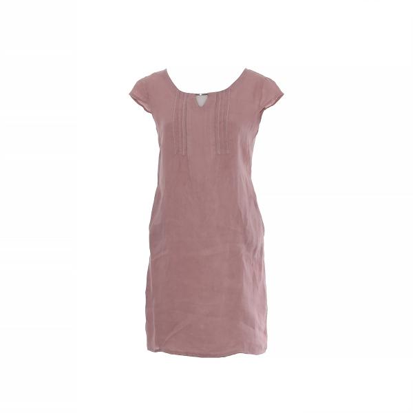 Marisol linane kleit metall detailiga roosa