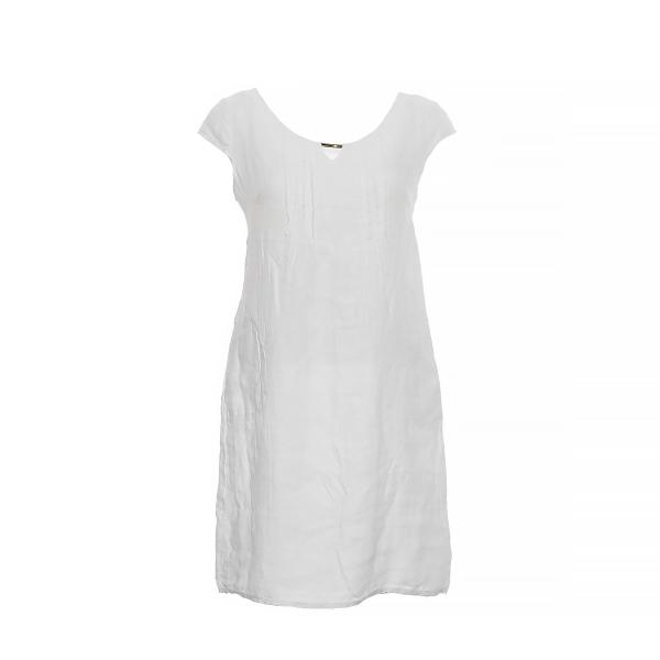 Marisol linane kleit met.detail valge