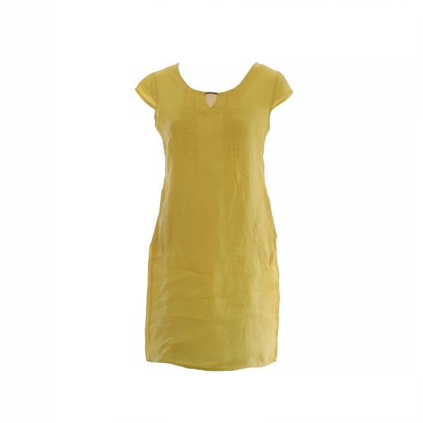 Marisol linane kleit met.detail kollane
