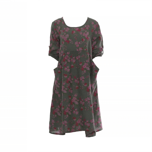 "Marisol linane kleit ""Rose"" roheline"