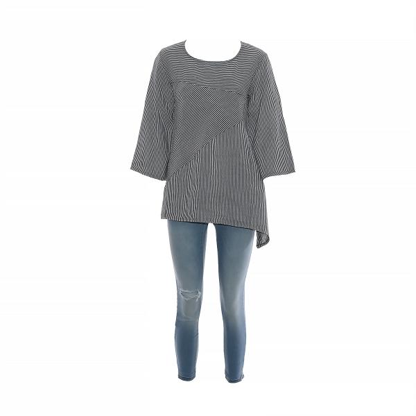 Marisol linane pluus triibuline hall